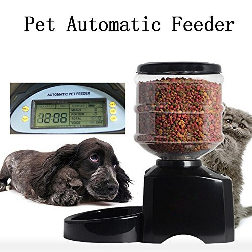 Haoren 5.5L Automatic Pet Feeder, Recordable Dog Cat Dry Food Container with LCD Screen by Haoren (Image #2)