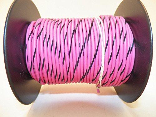 Pink/Black Striped, 18 GA Gauge AWG GXL Wire, 100
