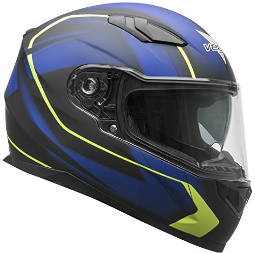 Vega Helmets RS1 Street Sunshield - Casco de moto, azul (Blue Slinger Graphic), Large