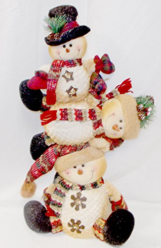 - Topsy Turvy Snowman Stacker Plush Stuffed Winter Decor 24' NWT