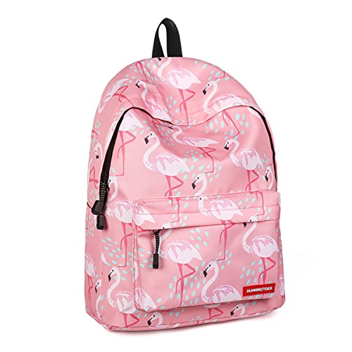 JOSEKO Girls Backpack Purse, Lightweight Preschool Backpack Print Bookbag Women College Bag Pink #1 11.8'' x 6.7'' x 15.74''(L x W x H)]()
