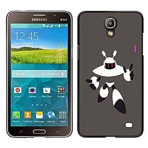 // PHONE CASE GIFT // Duro Estuche protector PC Cáscara Plástico Carcasa Funda Hard Protective Case for Samsung Galaxy Mega 2 / Robot Alien /