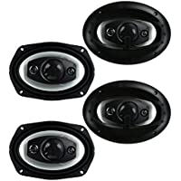 4) New Boss Riot R94 6x9 1000W 4 Way Car Coaxial Audio Speakers Stereo