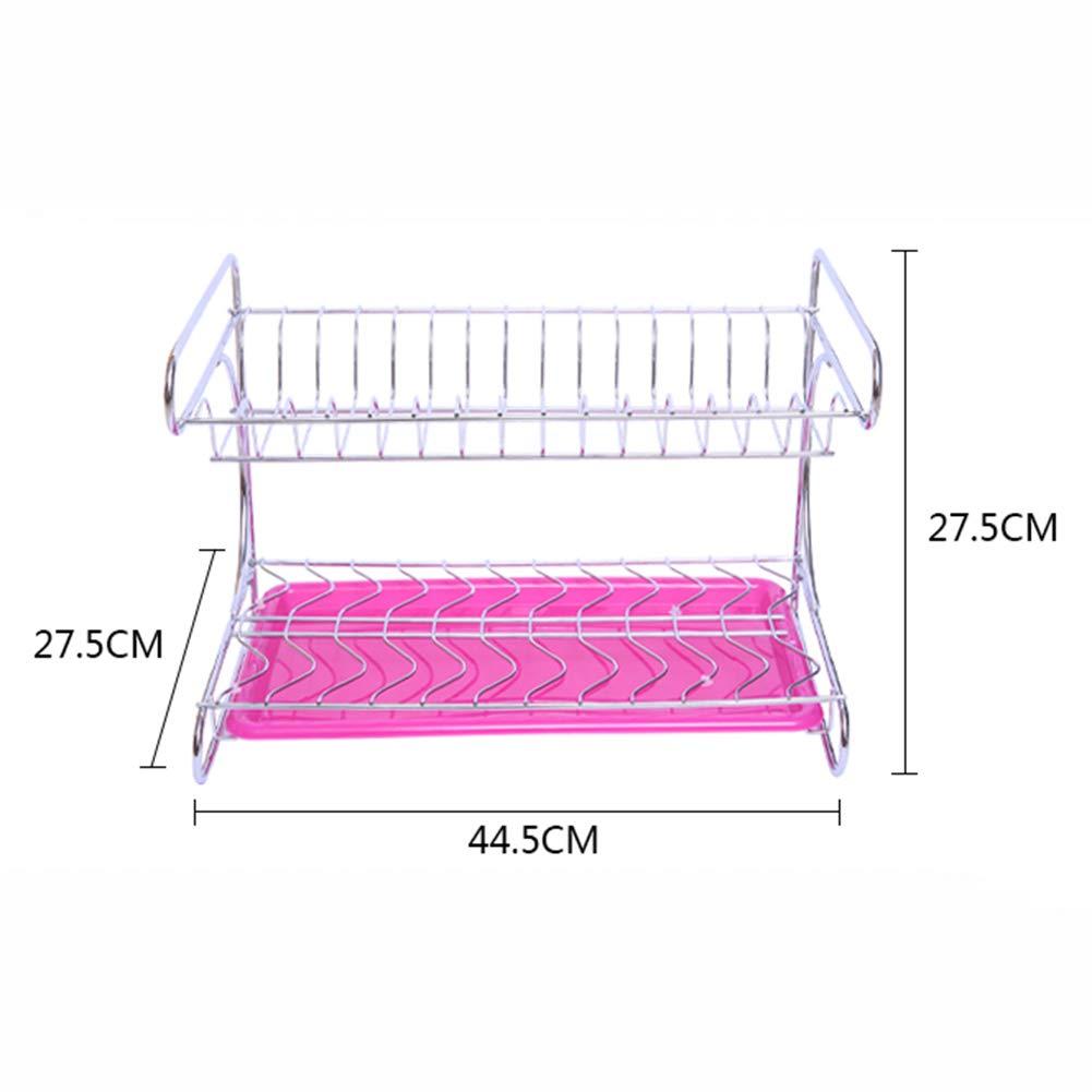 Shelf Storage Racks Pot Rack Storage Basket Shelf Baskets Cupboard Organizers Double Layer Dish Rack Kitchen Stainless Steel Storage Rack ZHAOYONGLI by ZHAOYONGLI-shounajia (Image #3)