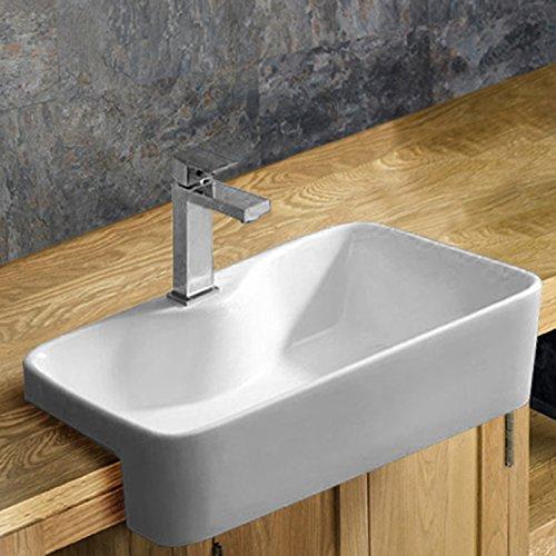 Clickbasin Foggia 48.5cm X 37.5cm Surface Mounted Rectangular Washbasin