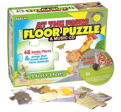 At the Farm Floor Puzzle & Music Cd (Giant Floor Puzzles)