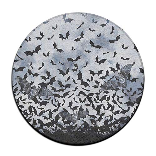 (Zoe Diro Skid Resistance Soft Rug Mats Halloween Horror Bats Seat Cushion (16 Inch) Round Chair Cushion Pad)