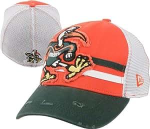 Miami Hurricanes DS Deuce New Era 39THIRTY Flex Hat
