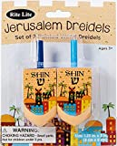 Large Wooden Hanukkah Dreidels with Hand Painted
