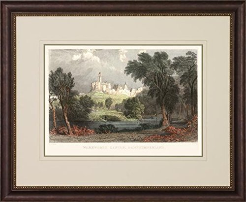 Art Virtuoso P2281F-05553 English Castles Framed Art Print with Gold Beaded Inner (Castle Bronze Finish)