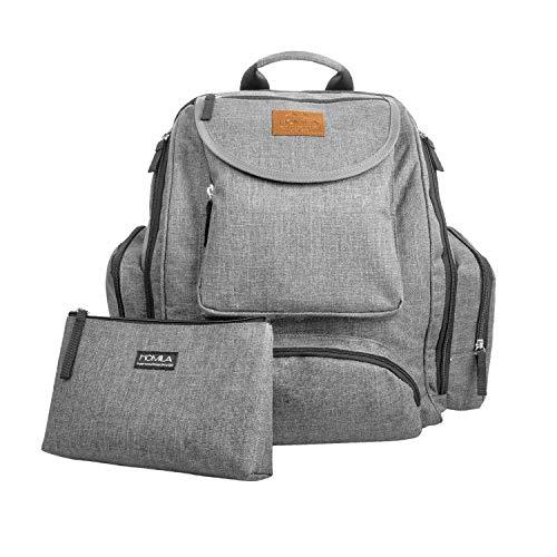 Diaper Bag Backpack,Large Capacity Multi-Functional Travel Backpack,Sundry Bag,Grey