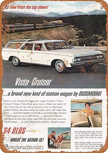 A Homim 1964 Oldsmobile Vista Cruiser Station Wagon Vintage Look 8 X 12 Inch Aluminum Metal Signs - Oldsmobile Station Wagons