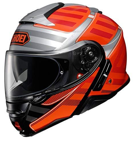 Shoei Neotec II Modular Motorcycle Helmet Splicer Orange TC-8 Large (More Size Options) -  Shoei Helmets, MOT-77-11964