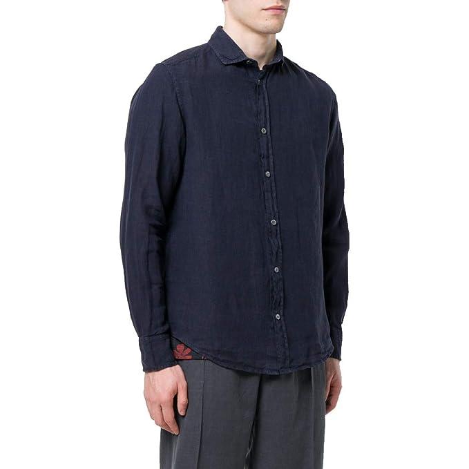 Emporio Armani - Camisa Casual - para Hombre Turquesa S