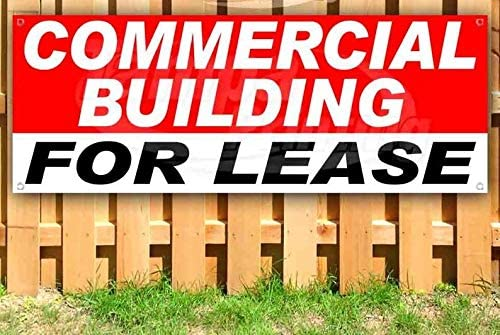 Advertising Flag Front Banner Business Sign Retail Store 30 lb Commercial Building for Lease Banner Vinyl Weatherproof 15 24 20 in 20 18