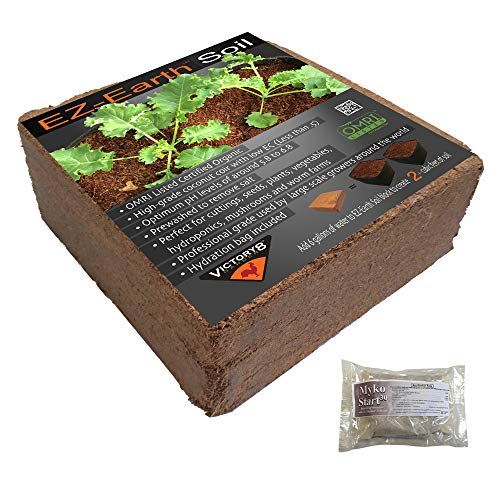 EZ-Earth Organic Potting Soil Coconut Coir for All Pots Raised