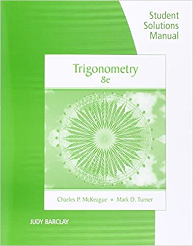 Amazon student solutions manual for mckeagueturners student solutions manual for mckeagueturners trigonometry 8th 8th edition fandeluxe Images