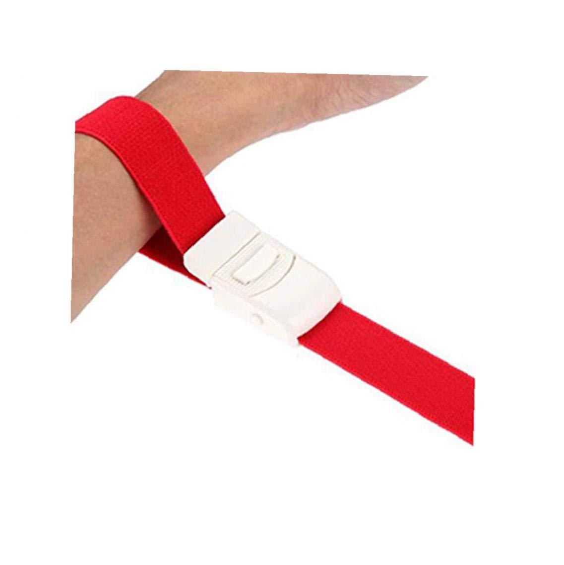 Emergencia al Aire Libre de Primeros Auxilios de Emergencia Cintur/ón Torniquete uno DIO torniquete Reutilizable Ajustable de la Parada de la Correa con Hebilla de Sangre M/édico Rojo