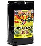 Happy Face Organic Coffee, from Nectar of Life. Dark Roasted, Whole Bean Coffee. Smoky & Toasty Flavor. South American & Indonesian Coffee Origins. 100% Fair Trade Coffee. FDA Cert. 10oz Bag.