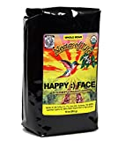 Happy Face - Whole Bean Organic Coffee by Nectar of Life - Dark Roast Coffee with Smoky Toasty Flavors - Blend of Certified Organic Fair Trade Colombian and Sumatra Coffee - 10oz Bag
