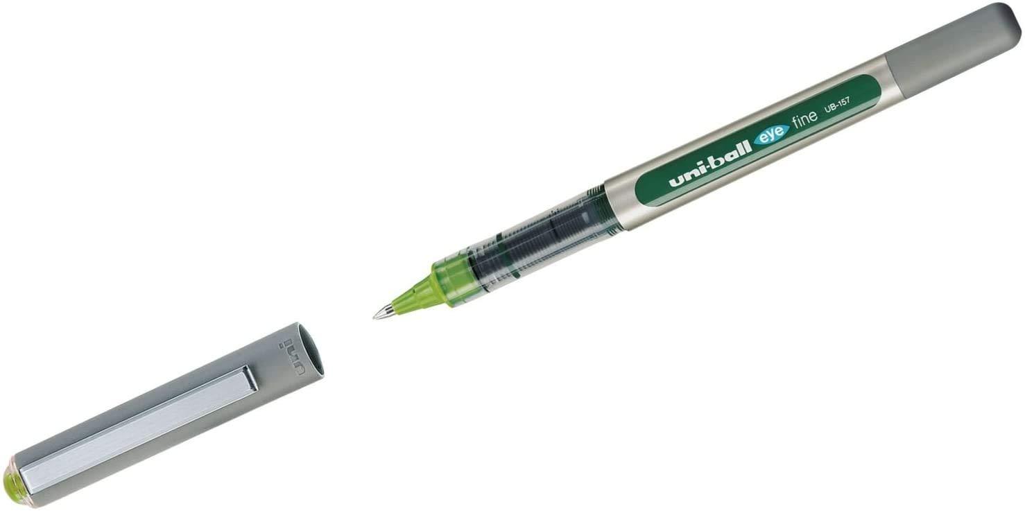 Uni-Ball EYE UB-157 Rollerball Pen Medium 0.7mm Ball alle Farben sortiert 10 St/ück Pack of 10 One of each colour Design Set 9 + 3 St/ück