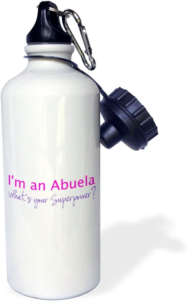 21 oz Multicolor 3dRose wb/_193728/_1Im an Abuela-Whats your Superpower-pink-funny gift for grandma Sports Water Bottle