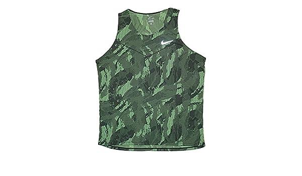 6a42b1f97260d Amazon.com  Nike Fractual Racing Men s Running Singlet Shirt  Clothing