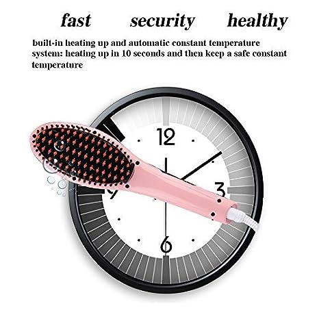Pelo Cabello Hair Brush Digital caliente anti estática, Cerámica Calefacción cepillo para desenredar para instantánea Magia sedoso recto plancha masaje pelo ...