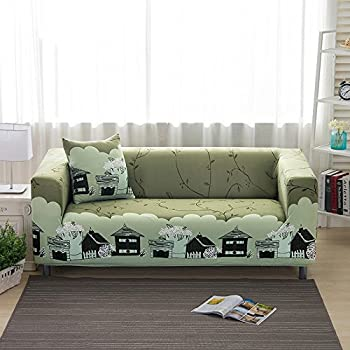 Alana Dickens Sofa Slipcover Protector Cover, Pastoral Wind Printed  Polyester Spandex Fabric Elastic Sofa Covers