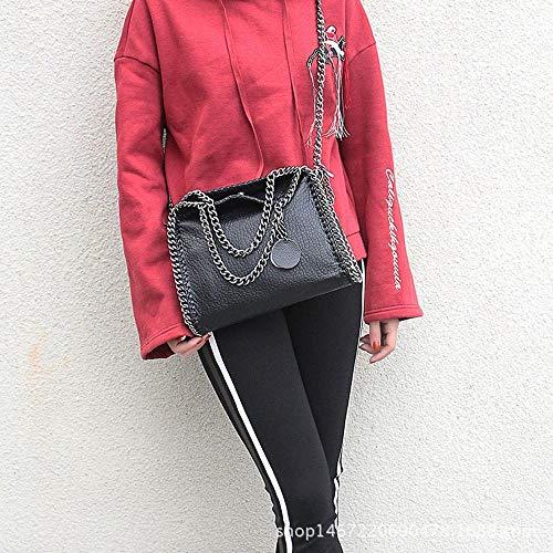 Hongge Bag Fashion Chain PU Lady Lady Oblique Handbag Bag Shoulder Single U4wq1UrAnv