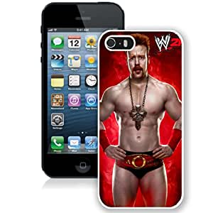 Customized Apple iPhone 5S Case Wwe Superstars Collection Wwe 2k15 Sheamus in White Phone Case For iPhone 5S Case