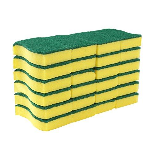 [해외] SIGA 헤비 듀티 스크럽 스펀지, 24 카운트, 크기 : 11 x 7 x 3cm/MR. SIGA Heavy Duty Scrub Sponge, 24 Count, Size:11 x 7 x 3cm