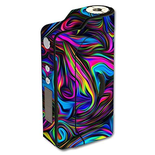 Skin Decal Vinyl Wrap for Sigelei 150W TC Temp Control watt Vape Mod Box / Neon Color Swirl Glass (Best Temp Control Mod)