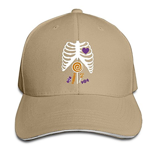 ABCDQ7-G Skeleton Candy Rib-cage X-Ray Halloween Funny Funny Print Travel Sandwich Adult (Skeleton Print Out Halloween)
