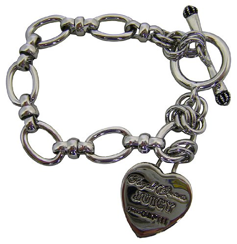 Juicy Couture Silver Starter Heart Charm Bracelet