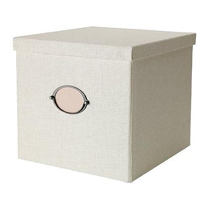 IKEA KVARNVIK - Caja con tapa, blanco