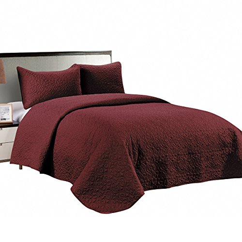 red quilted coverlet - 3