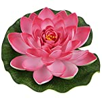 Outgeek-5PCS-Artificial-Flower-Decorative-Foam-Artificial-Plant-Fake-Floating-Flower-with-Fake-Lotus-Leaves