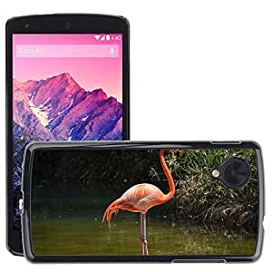 Just Phone Cases Etui Housse Coque de Protection Cover Rigide pour // M00128839 Flamingo Agua Pink Bird // LG Nexus 5