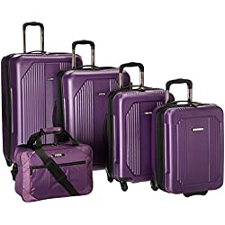 U.S Traveler Bloomington Carry-on 6-Piece Luggage Set - Purple