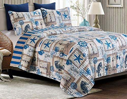 Ashley Cooper by The Seashore Lighthouse Quilt in King Size