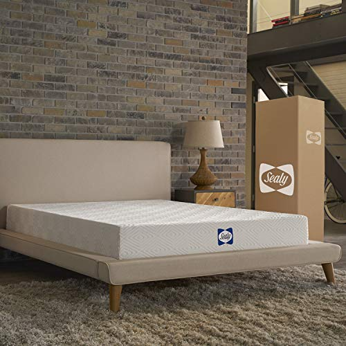 Sealy 8-Inch Bed in a Box, Adaptive Comfort Layers, Medium-Firm Feel, Memory Foam Mattress, (Sealy Twin Mattress)