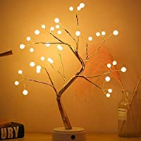 U-HOOME Tree Lights Night Light with Touch Button, 36 LED Pearl Beads Fairy Light Children's Room Décor Battery & USB…