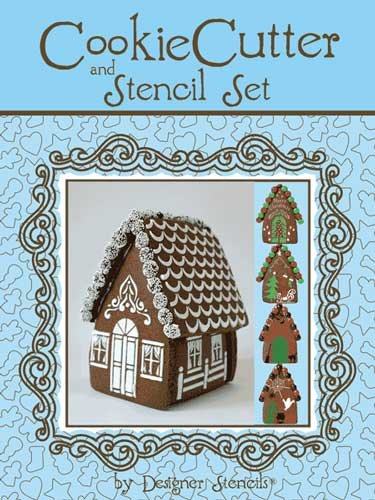 Designer Stencils TS065 - Gingerbread House Stencil Kit with Tin Cutters by Designer Stencils