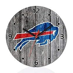 FidgetGear Buffalo Bills Football Wall Clock Home Room Decor Gift C One Size