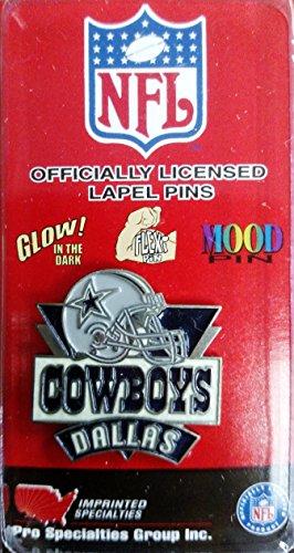 Dallas Cowboys Lapel Pins (Dallas Cowboys Metal Hat or Lapel Pin Die Cut Glow In the Dark Football)