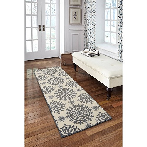 Maples Rugs Hadley Print Runner, Elephant Grey, 2