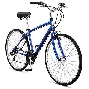 "Schwinn Men's Voyager 3 700C Wheel Hybrid Bicycle, Blue, 16""/Small"