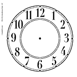 Schoolhouse Clock Stencil - 10 inch Clock
