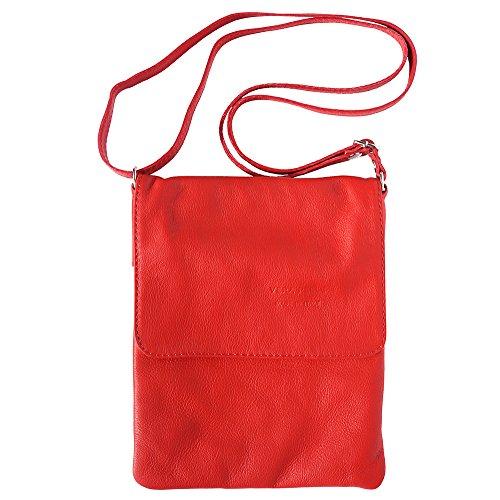 Con Borsetta Leather 414 Florence Market Rosso Tracolla Piatta gEInqB1